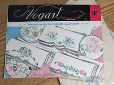 Vogart 147 Vintage Hand Embroidery Transfer Pattern Pillowcases Original Uncut