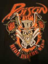 "Poison Metal band ""Ride Like The Wind"" T Shirt Mens Large ! NICE bret michaels"