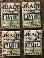 IRAQI MOST WANTED playing cards; 4 Decks; New; Bicycle/Hoyle; Reprod. Of 2003