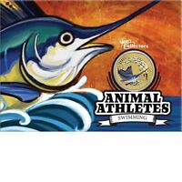 2012 Australia Animal Athletes $1 Coin - Sailfish Swimming