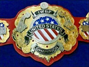 ST IWGP United States Championship Title Belt Replica 4mm Brass Dual Plate Brass