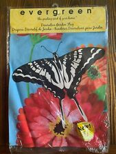 New listing Evergreen Double Sided Gerber Daisy and Butterfly - Garden Flag 12x18