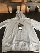 Polo Ralph Lauren Basketball Bear Grey Hoodie Hooded Sweatshirt Hoody XXL NWT 93