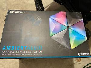 New! Brookstone ambient speaker And LED light Set Reactive Tiles