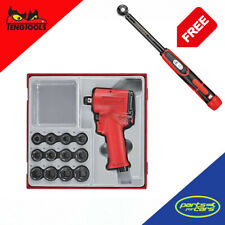 "Teng Tools - 13pc 1/2in Drive Mini Impact Socket Set **FREE 1/2"" Torque Wrench**"
