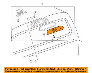 TOYOTA OEM 95-04 Tacoma 3rd Third  Brake Light Lamp-Lens 8157104010
