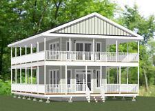 16x28 Tiny House -- 810 sq ft  -- PDF Floor Plan-- Model 9