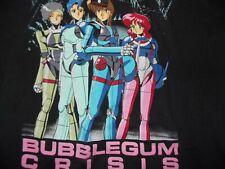 Vtg 1980s 1990s BUBBLEGUM CRISIS L T shirt TOKYO FASHION VICTIM Anime manga art~