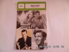 CARTE FICHE CINEMA BRUCE CABOT période 1931 - 1941