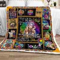 Hippie Girl Sofa Fleece Blanket 50-80 Made In US
