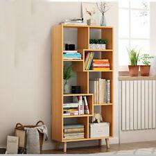 Corner Bookshelf Ladder Book Shelf Unit Kids Bookcase Tall Organizer 5 Tier Cube