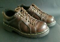 Dr Doc Martens Oxford Shoes Brown Leather Size UK 4 Womens US 6 Made in England