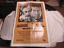 VTG One Sheet Movie Poster The Last Hard Men 1976 Charlton Heston James Coburn
