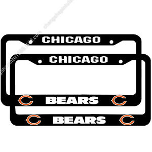 Chicago Bears 2PCS Chrome License Plate Frame Set Auto Truck Car Metal Tag Cover