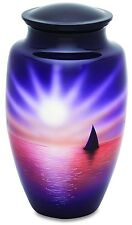 Sunset & Sailboat 210 Cubic Inches Large/Adult Funeral Cremation Urn for  Ashes