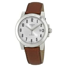 Tissot Gentleman Silver Dial Automatic Men's Leather Watch T098.407.16.032.00