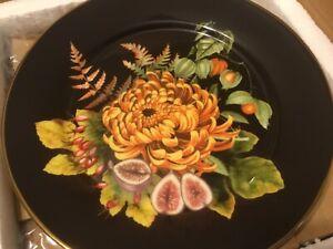 Williams Sonoma Thanksgiving Fall Harvest Bloom Salad Plates Set of 4 NEW