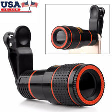 HD 12x Optical Telescope Camera Lens Zoom Monocular Clip-on For Mobile Phone US