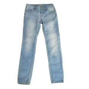 Justice Kids Girls Jeans 12 Slim Blue Light Wash Super Skinny Stretch Simply Low