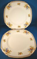 John Maddock & Sons Royal Cameronian Square Luncheon Plates (8.75 In.) England