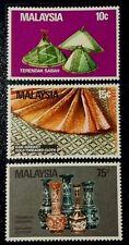 (SET II) MALAYSIA 1982 MALAYSIAN HANDICRAFT SG 250 -252 MLH OG