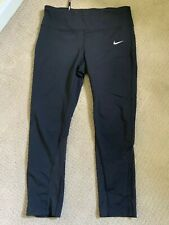 Nike crop leggings size M capri Dri-Fit sheer panels EUC women's