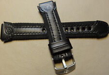 Timex T49724 Water Resistant Leather w/Nylon 18mm Expedition Black Watch Band
