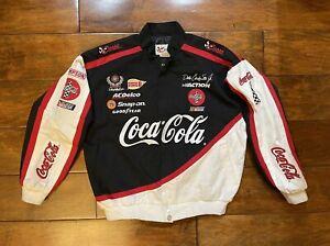 Dale Earnhardt Jr #1 Coca Cola Racing Jacket Youth Size XL NASCAR Black White