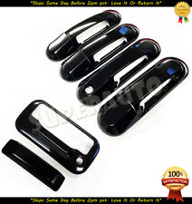 For 2007-2010 Ford Explorer Sport Trac Glossy Black Door Handle+Tailgate Covers