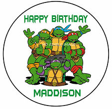 Ninja turtles TMNT edible image Rice Paper Birthday Party Cake Topper