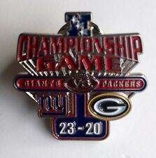 New York Giants vs Green Bay Packers LE 2008 AFC Championship Game Pin