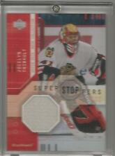 2002-03 Mask Collection Hockey Jocelyn Thibault Game Used Jersey Card # SS-JT