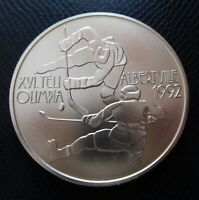 HUNGARY / SILVER 500 FORINT / ICE HOCKEY - WINTER OLYMPIC ALBERTVILLE / BU 1989