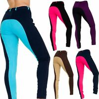 Ladies Womens Stretchy Comfort 2Tone Plus Size Self Seat Breeches Jodhpurs