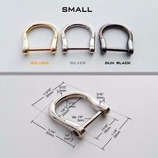 Metal Detachable Openable Handbag Leather Bag Purse Strap Belt Web D Ring Buckle