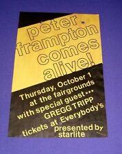 Peter Frampton Comes Alive Concert Poster (Oregon, Oct. 1, 1981) 11 in. x 16 in.