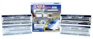 TOMIX N GAUGE JR 500 SHINKANSEN 3 CAR PACK & RAKE OF 4 ADDITIONAL COACHES (3V)