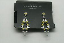 ZARA Long Multi Color Crystal Chandelier Earrings RARE! New 1856/034/050