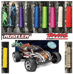 *FITS* Traxxas 1/10 Rustler RC Shock Covers Wraps Dust Sox Spring Sleeves