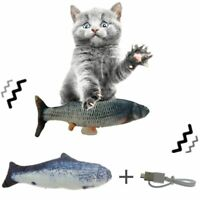 Pet Cat Toy 30CM USB Charging Simulation Electric Dancing Moving Floppy Fish PP