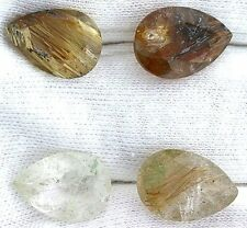 ONE 14x10 14mm x 10mm Pear Golden Rutilated Quartz Gemstone Gem Stone EBS7185