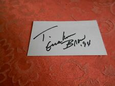 T. GRAHAM BROWN  AUTOGRAPHED INDEX CARD