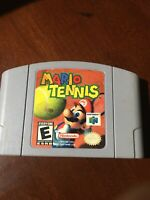 Mario Tennis Nintendo N64 Authentic tested Working