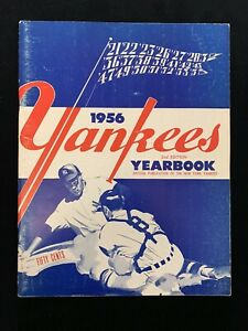Original 1956 New York Yankees Official Baseball Yearbook 2nd Edition (blue) EX