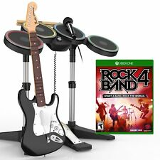 Rock Band 4 Xbox One Wireless Drum Kit Guitar Microphone & jeu ROCKBAND quatre