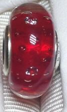 "Pandora ""Red Effervescence"" Murano Glass & Clear CZ Charm- Sale $28 Retail $55"