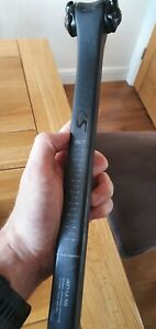 New S-Works FACT carbon Tarmac SL6 320mm seatpost, 20mm offset.