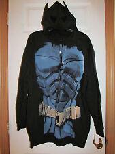 NWT Boy's DC Comics BATMAN DARK KNIGHT RISES MASK HOODIE size XXL 18/20 Fleece