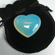 Opalite Crystal Heart - 40 mm with Free Black Velvet Pouch