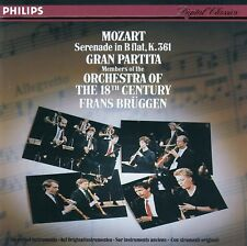 MOZART: GRAN PARTITA - MEMBERS OF THE ORCHESTRA OF THE 18TH CENTURY, BRÜGGEN, CD